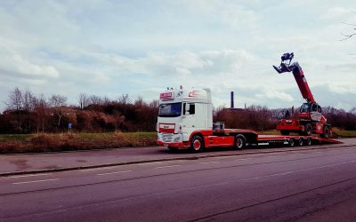 Semi diepladertransport Roeselare